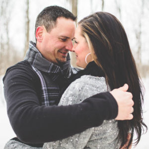 Winter engagement session at Woodend park, Ontario, Canada. | Jessica Little Photography