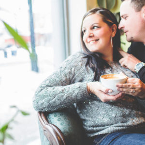 Cafe engagement session, St. Catharines, Ontario, Canada. | Jessica Little Photography
