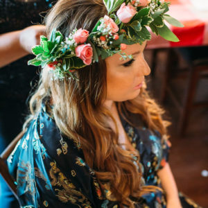 Niagara Backyard Country Wedding Hair