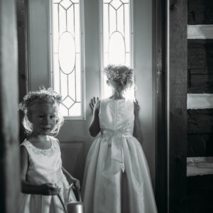 Niagara Backyard Country Wedding Flower Girls