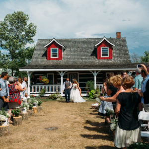 Niagara Backyard Country Wedding Ceremony