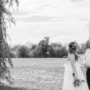 Niagara Backyard Country Wedding Couple