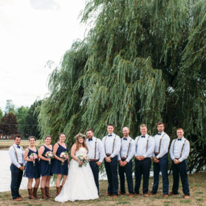 Niagara Backyard Country Wedding Party