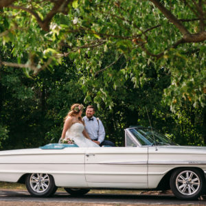 Niagara Backyard Country Wedding Car