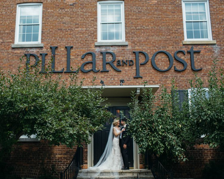 wedding photography at the pillar and post wedding